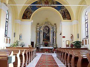 Interiér rímskokatolíckeho kostola