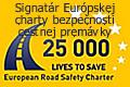 Signatár Európskej charty bezpečnosti premávky na ceste